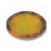Glass Cut Bead Flat Oval 20x14mm Transparent Yellow - Strung